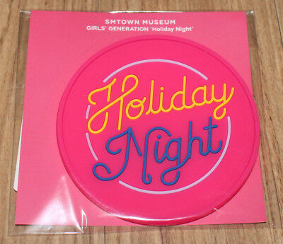 GIRLS' GENERATION SMTOWN MUSEUM OFFICIAL GOODS Holiday Night COASTER SEALED
