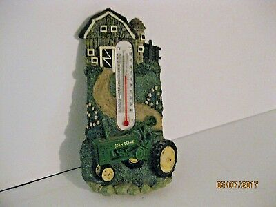 "John Deere Decorative Thermometer Resin 7 1/4"" Tall"