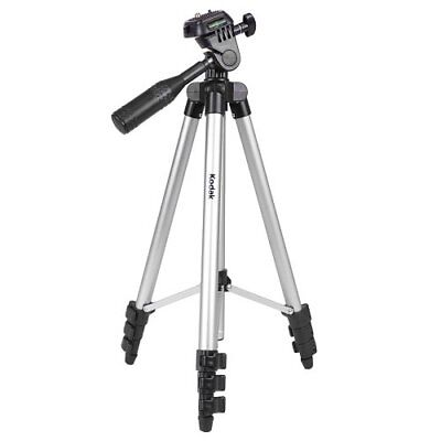 "50"" Kodak Tr501 Superior Control Camera Tripod, 3 Way Pan Head, Bubble Level *Ne"