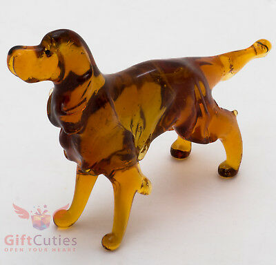 Art Blown Glass Figurine of the Irish Setter dog