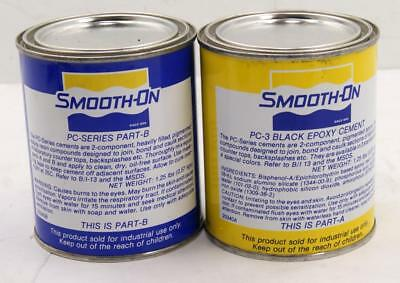 A Case Of 6 Pints Kits Smooth-On PC-3 Black Epoxy Two Component Adhesive