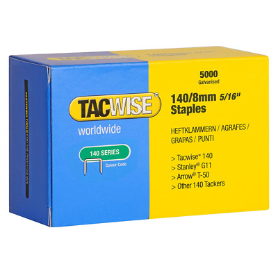 Tacwise 140 Series 8mm Staples for Staple  (Pack of 5000)