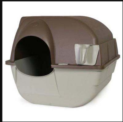Self Cleaning Automatic Cat Pet Kitty Litter Box Easy Use & Clean Pad Mat Odors