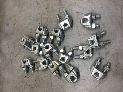 "3/8"" Wire Rope Clip U-Bolt Cable Clamp Lot of 15 pcs"