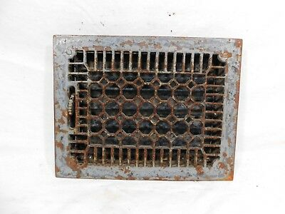 Antique Honeycomb Cast Iron Heating Vent / Grate - C. 1905 Architectural Salvage