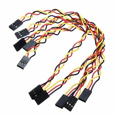 5pcs 3 Pin 20cm 2.54mm Jumper Cable DuPont Wire For Arduino Female To Female US