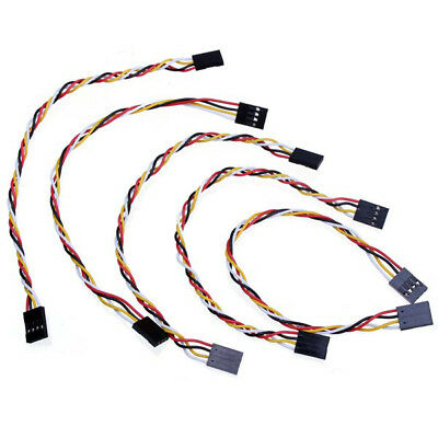 5pcs 4 Pin 20cm 2.54mm Jumper Cable DuPont Wire For Arduino Female To Female US