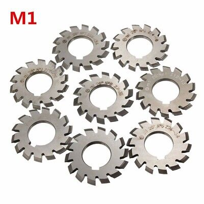 Module 1 PA20 Bore 22mm #1-8 HSS Involute Cutter Milling Gear [From US]