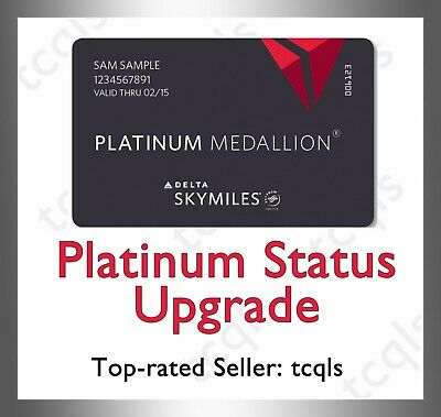 Delta Platinum Medallion Status Upgrade 2021| Sky Team Elite Plus |Seat Upgrade