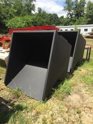 Dump Hopper 2 Yard Skid Steer Mount, Trash Hopper, Forklift Hopper