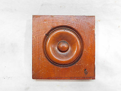 Antique Door/Window Rosette Plinth Block - 1895 Fir Architectural Salvage