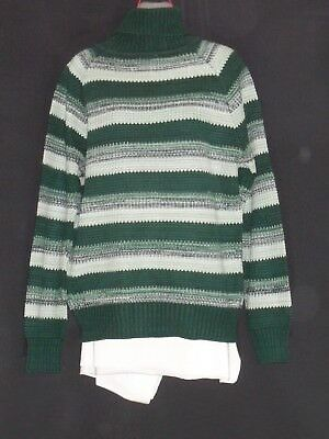 1970's Vintage Striped Jumper with Polo Neck.