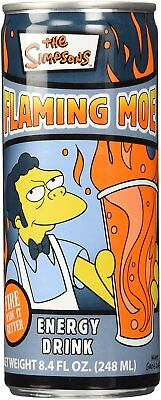 Flaming Moe's Drink Can 248ml USA Soda Extra items get free postage The Simpsons