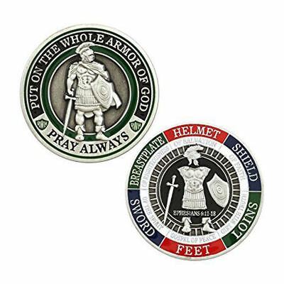 Put On The Whole Armor Of God Commemorative Silver Challenge Coin Military Army