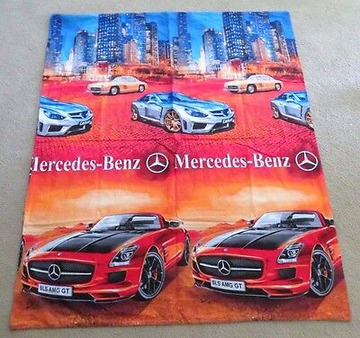 Mercedes-Benz SLS AMG GT Carlsson Double Sided Man Cave Fabric Flag Luxury RARE