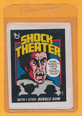 Test Issue Wrapper Shock Theater Theatre Dracula 1975 Topps Hammer Horror Film B