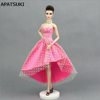 Pink 1/6 Doll Clothes For 11inch Doll Evening Gown Party Dress For 1/6 Doll toy