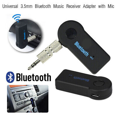 Bluetooth Adapter Wireless 3.5mm AUX Audio Stereo Music Home Car Receiver w/ Mic