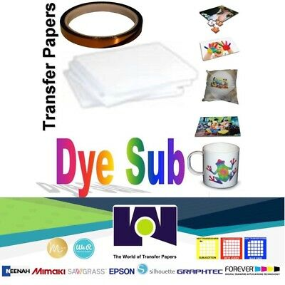 Dye Sublimation Transfer Paper for Virtuoso & Epson 100 sh 8.5x11 + 1 Roll Tape