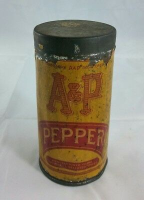 A&P Great Atlantic and Pacific Tea Company Pepper Can Tin Vintage New York USA