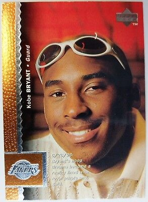 Rare: 1996 96 Upper Deck Kobe Bryant #58, Rookie RC, Lakers HOF, Black Mamba !