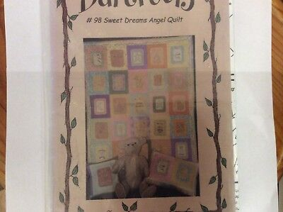 "Quilt & Stitchery Patterns By Bareroots "" Sweet Dreams Angel Quilt"" & Pillows"