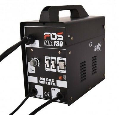FDS MIG 130 Welder Flux Core Wire Automatic Feed Welding Machine w/Free Mask New