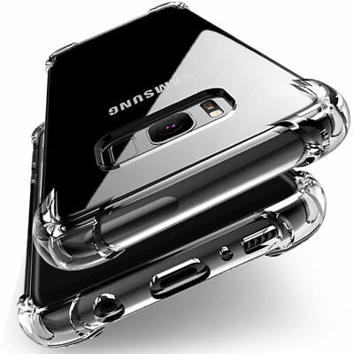 For Samsung Galaxy S8 & Plus Clear Hybrid Shockproof Soft TPU Bumper Case Cover