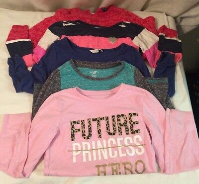 06c34a87d4cfe Childrens Place Baby Gap Girls Tops Size 5 6 Long Sleeve T-Shirt Carters