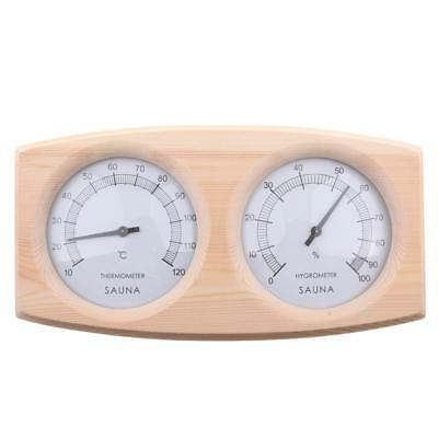 Wooden Glass Fronted Sauna Thermometer and Hygrometer Temperature 20-140