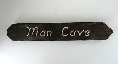 Man Cave Sign - Man Cave Decor - Wall Hanging - Gifts for Him - Shed Signs