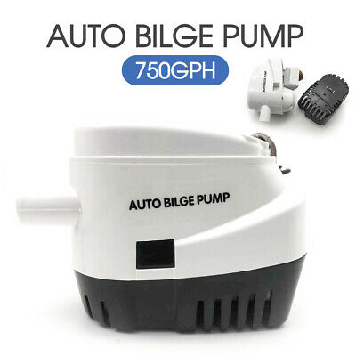 Bilge Water Pump 3700GPH 12V Marine Submersible Camping Boat Caravan Fishing