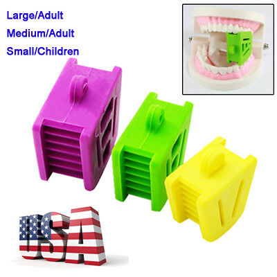 USA 3PCS/Pack Flexible Silicone Latex Mouth Prop Bite Blocks Large/Medium/Small