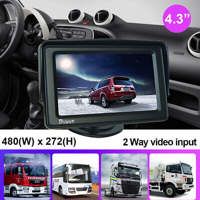 4.3 inch TFT LCD Color Screen Monitor Display for Car Reversing Rear View Camera