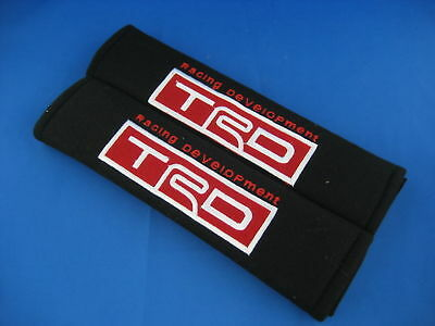 2x TRD LOGO Seat Belt Cover Safety Shoulder Pads Covers Cushion 1pair
