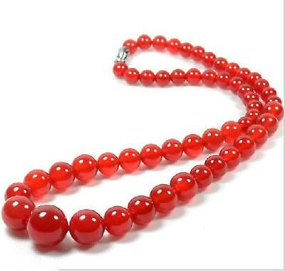 China Natural Jade hand carved red lucky chain necklace