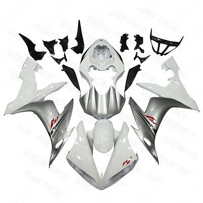 Silver Black Abs Injection Body Kit Fairing Fit For Yamaha 2004 2006