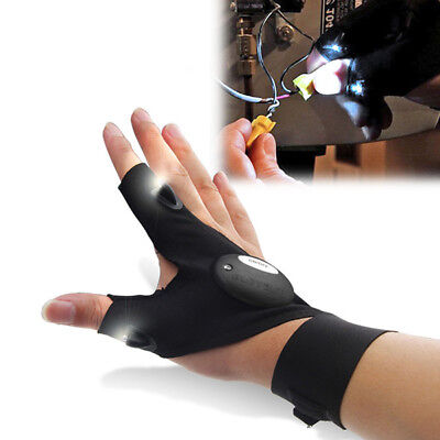 ZANLURE Multifunctional EDC Fishing Fingerless Glove LED Repair Flashlight
