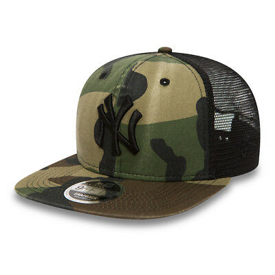 New Era Mens 9Fifty Baseball Cap.new York Yankees Washed Camo Snapback Hat 8S2 9