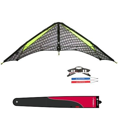 HQ Lenkdrachen Little Arrow R2F mit Leinen Speed & Power Kite Drachen 2 Leiner S