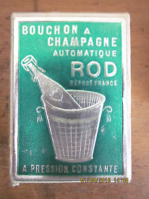"""~BOUCHON A CHAMPAGNE AUTOMATIQUE """"ROD"""" Made in France Bottle Stopper in BOX~"""