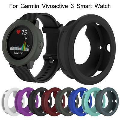 Premium Silicone Screen Protective Cover Case For Garmin Vivoactive 3 Smartwatch