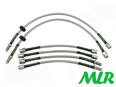 BMW 3 SERIES E36 316 318 320 325i 328 M3 STAINLESS BRAIDED BRAKE LINES HOSES UI