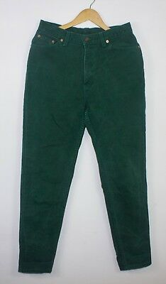 Vintage Levi's Green Denim Jeans 17512 Made In Usa Mom Fit Taper W30 L30