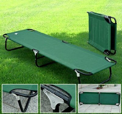 "Outsunny 74.8"" Military Camping Cot Camping Bed Portable Green"