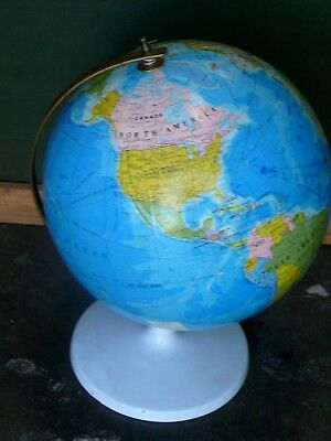 Vintage World Globe Metal Base And Support Arc