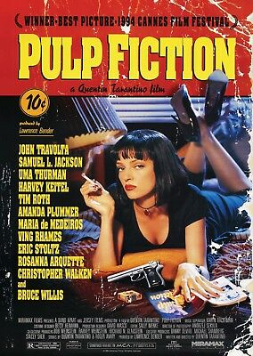 Pulp Fiction Vintage Movie Wall Art Poster Print A0 A1 A2 A3 A4 Maxi