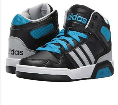 ADIDAS NEO BOYS  Mid Shoes Sneakers BB9TIS-K Black   Blue 4.5 ~ New ... 57d95ce9450