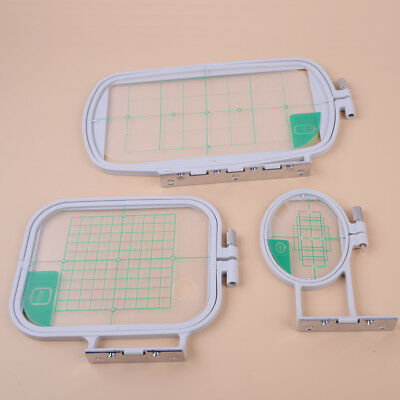 3Pcs Embroidery Hoops Set Kit Fit for Brother SE350 SE400 PE500 Machine