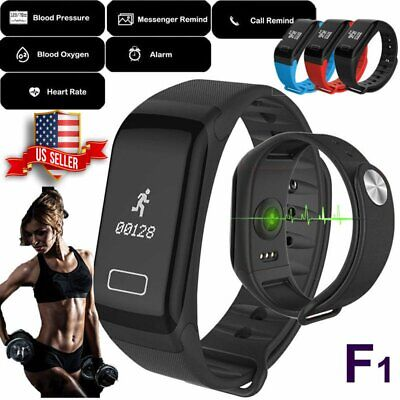 F1 Fitness Blood Pressure Tracker Heart Rate Monitor Smart Wrist Bracelet Watch